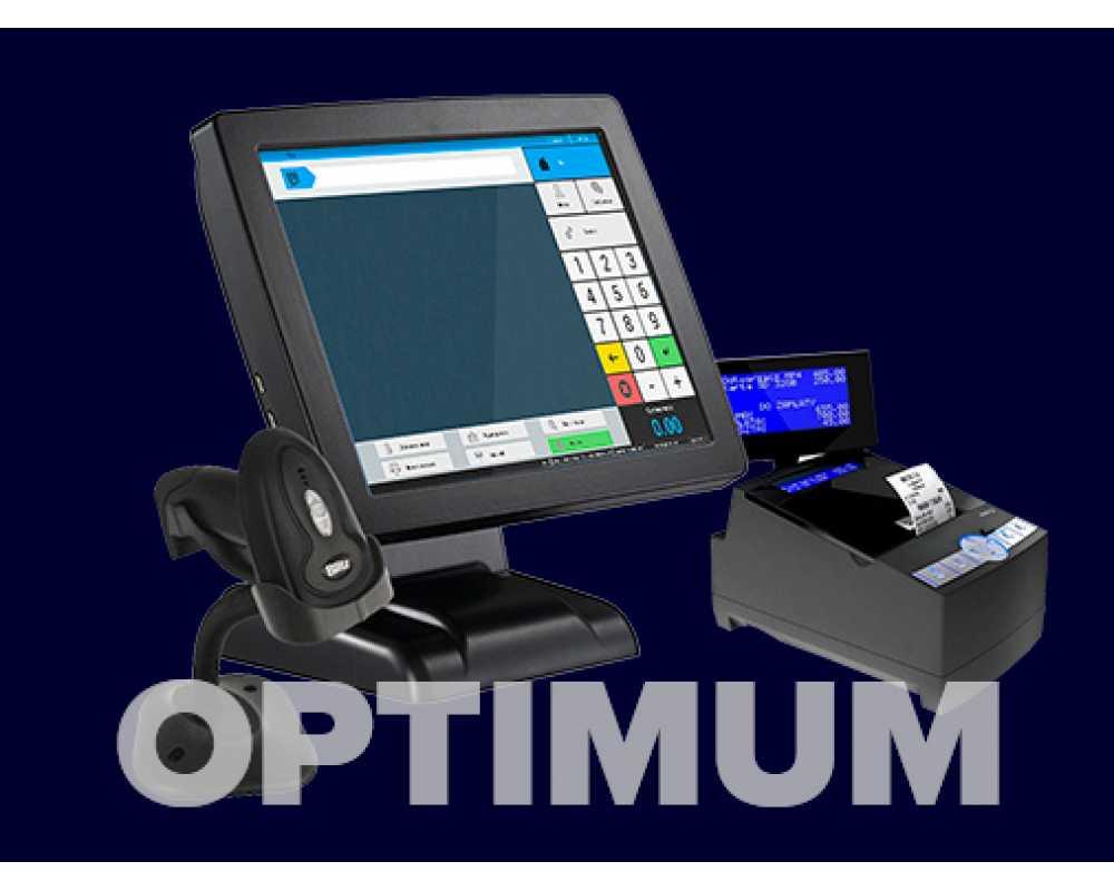 Фискальное решение на touch-мониторе Optimum
