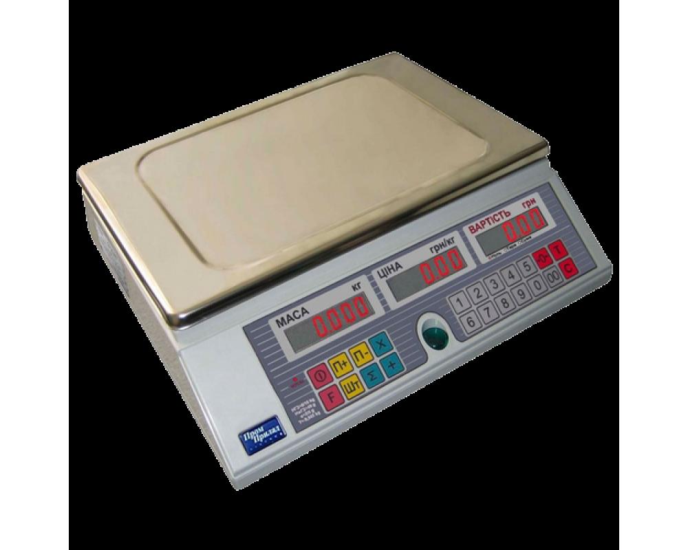 Електронні торгові ваги ВТА-60/15-6D-AС