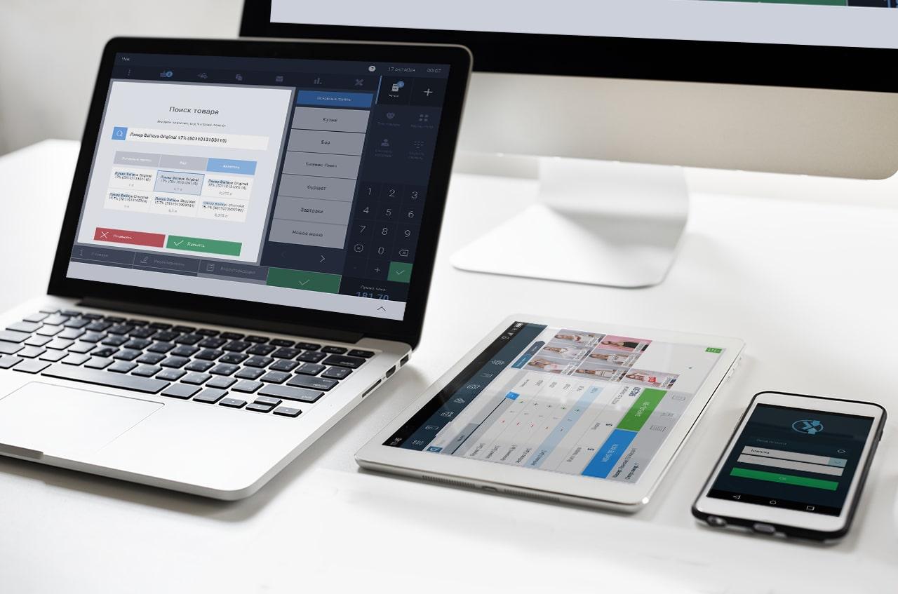 Интерфейс Chameleon POS на разных устройствах - фото