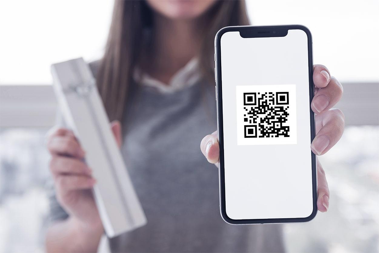 Электронный чек в виде QR-кода - фото